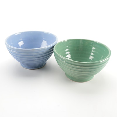 Ceramic Horizontal Ribbed Mixing and Serveware Bowls