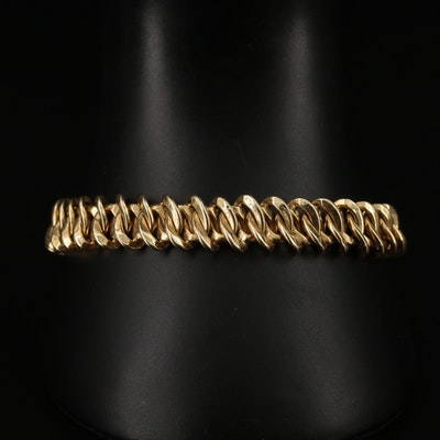 14K Oval Fancy Link Bracelet