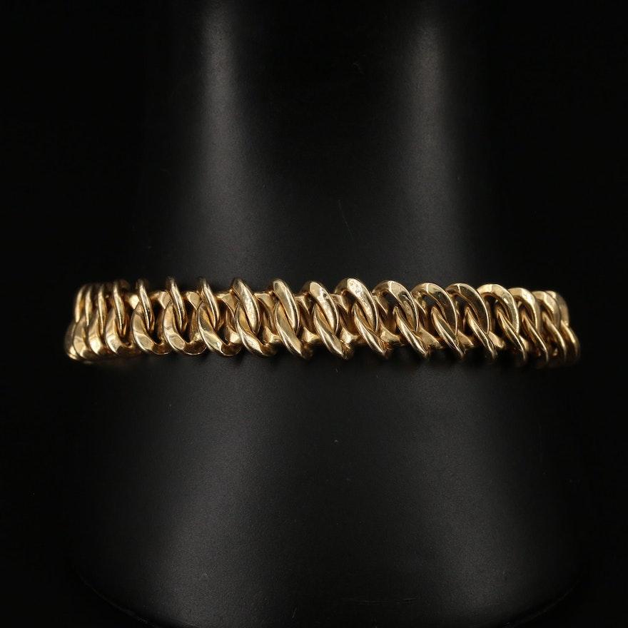 14K Oval Fancy Link Bracelet