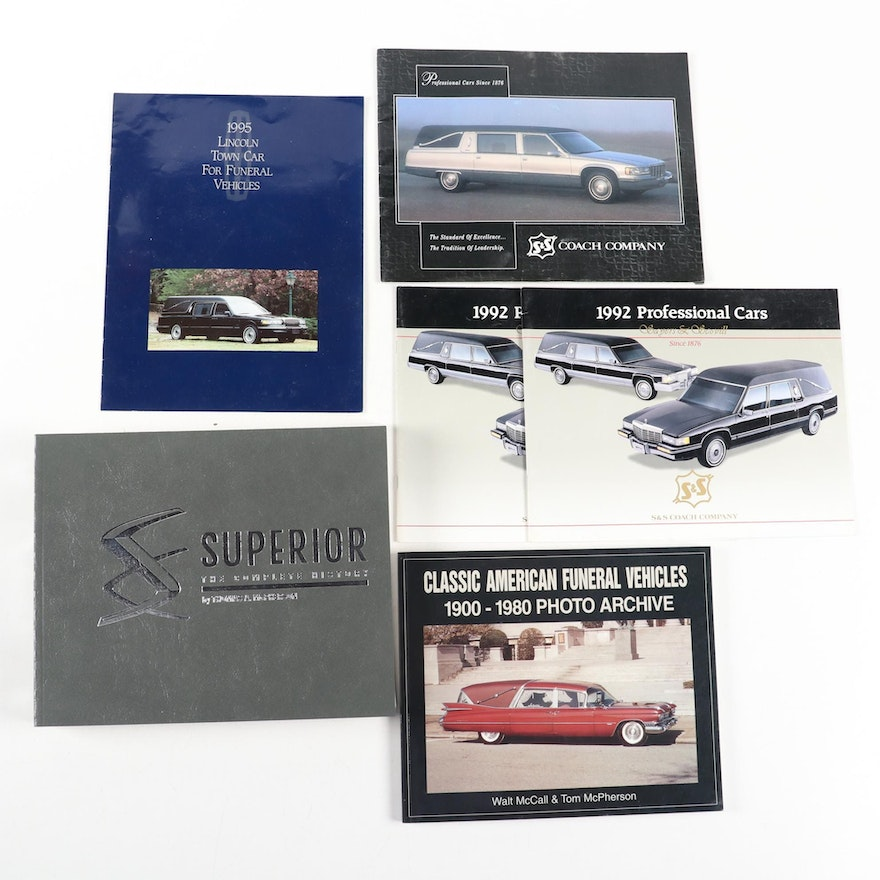 """Automobile Reference Books Including """"Classic American Funeral Vehicles"""""""