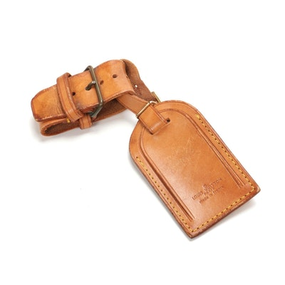 Louis Vuitton Poignet and Luggage Tag in Vachetta Leather