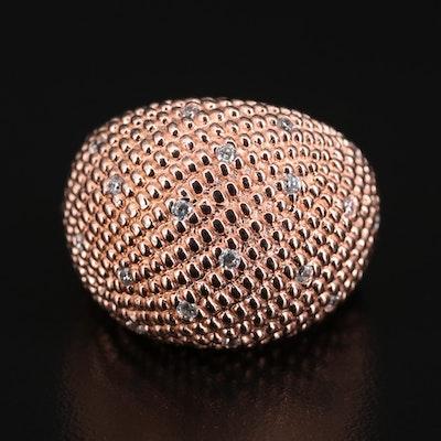 Sterling Silver Cubic Zirconia Bombé Ring