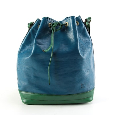 Modified Louis Vuitton Noé Bucket Bag in Toledo Blue Epi Leather