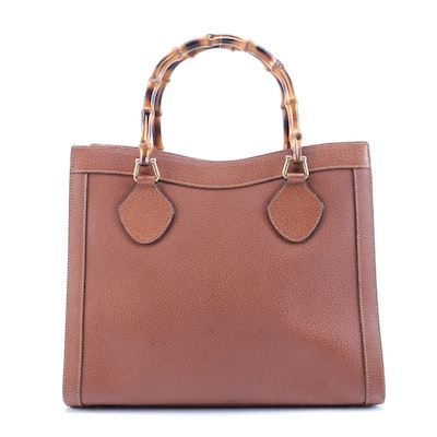 Gucci Bamboo Diana Tote in Brown Leather