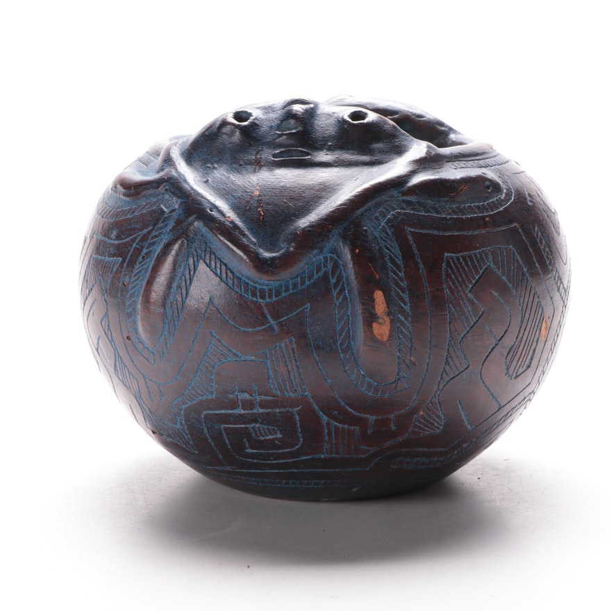 Abstract Figural Ceramic Vessel