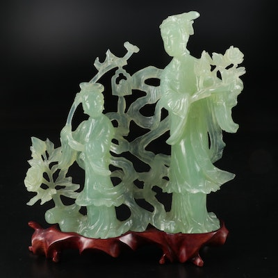 Chinese Carved Bowenite Figurines
