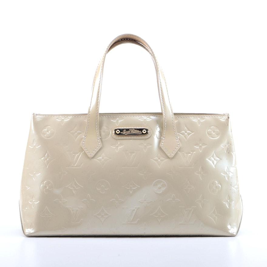 Louis Vuitton Wilshire PM Bag in Perle Monogram Vernis