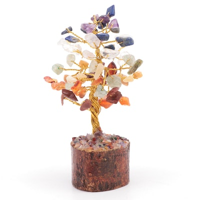 Multistone Bonsai Tree Figurine