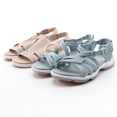 Rykä Tan Micha and Slate Dia Adjustable Sport Sandals with Boxes