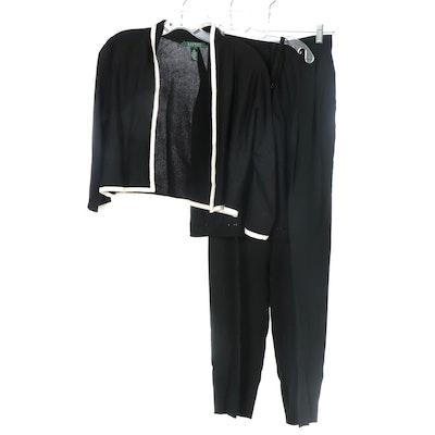 Banana Republic Knit Camisole, Ralph Lauren Knit Jacket, Ellen Tracy Trousers