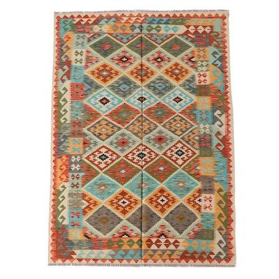 5'2 x 8'2 Handwoven Afghan Split Kilim Wool Rug