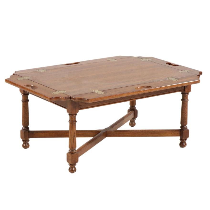Gordon's Oak Butler's Tray Table, Late 20th Century