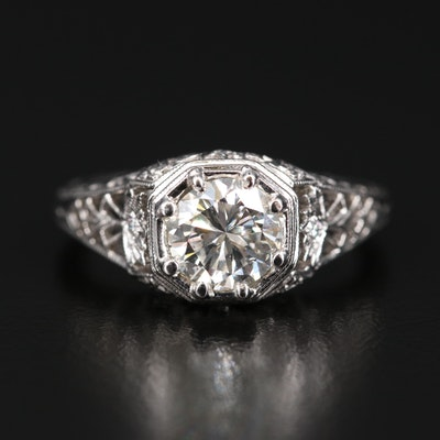 14K 1.07 CTW Diamond Openwork Ring