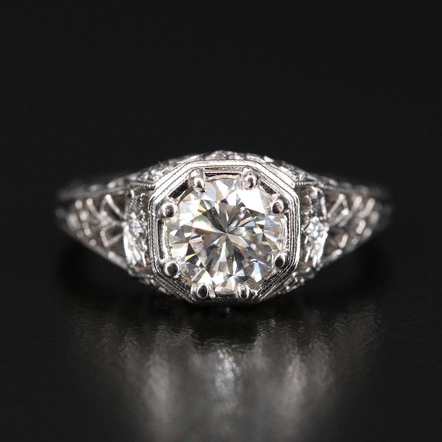 14K 1.07 CTW Diamond Openwork Ring