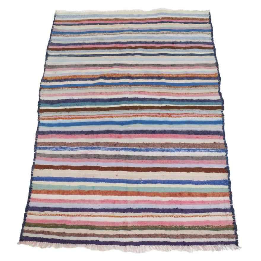 4'4 x 6'5 Handwoven Persian Kilim Area Rug
