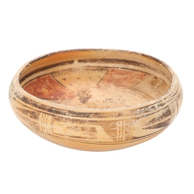 Southwestern Style Hand-Crafted Art Pottery Bowl