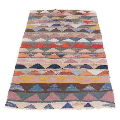 4'4 x 7'8 Handwoven Persian Wool Kilim Area Rug