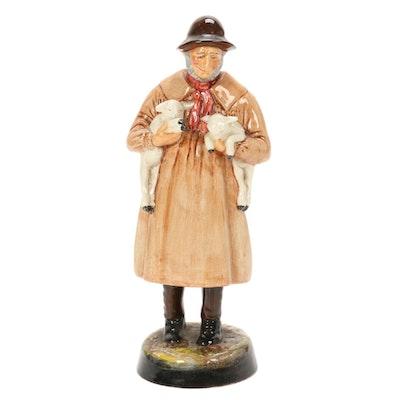 "Royal Doulton ""Lambing Time"" Porcelain Figurine"