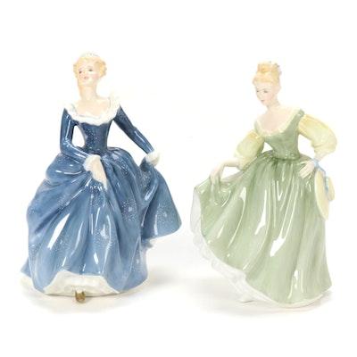 "Royal Doulton ""Fragrance"" and ""Fair Lady"" Bone China Figurines"