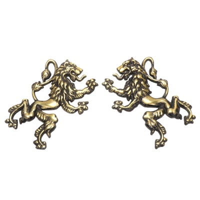 Brass British Lion Wall Hangings