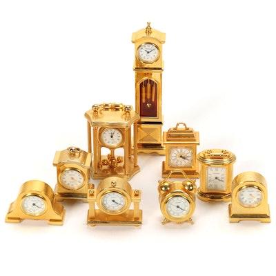 Sharp Miniature Metal Clocks, Late 20th Century