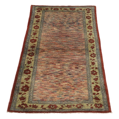 3'3 x 6'8 Hand-Knotted Afghan Gabbeh Area Rug