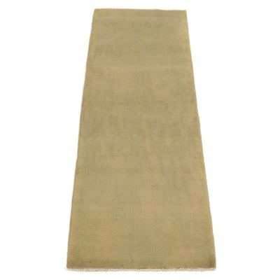 2'5 x 7'3 Hand-Knotted Afghan Over-Dyed Runner Rug