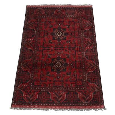 3'3 x 4'11 Hand-Knotted Afghan Kunduz Rug
