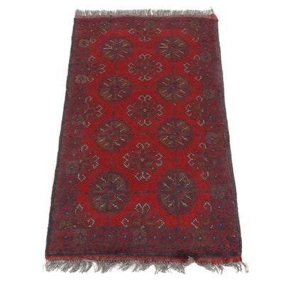 1'10 x 3'6 Hand-Knotted Afghan Kunduz Rug