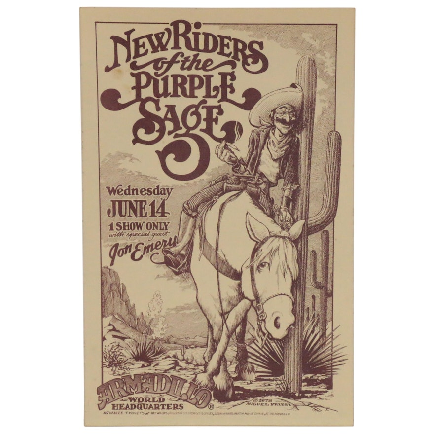 New Riders of the Purple Sage Concert Poster, 1978