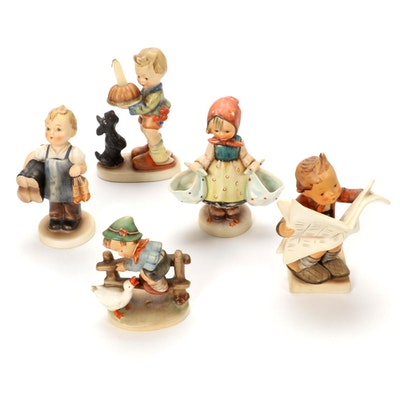 "Goebel ""Begging His Share"" and Other Porcelain Hummel Figurines"