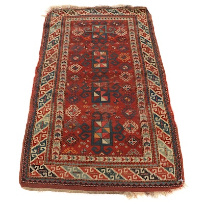 2'10 x 5' Hand-Knotted Caucasian Shirvan Wool Area Rug