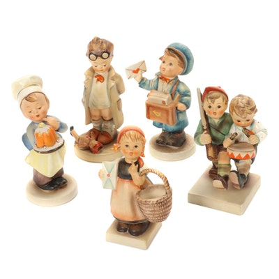 "Goebel ""Volunteers"" and Other Porcelain Hummel Figurines, Mid-20th Century"