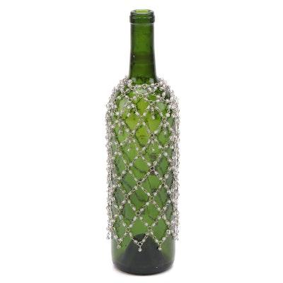 Glass Bead Wine Bottle Cover