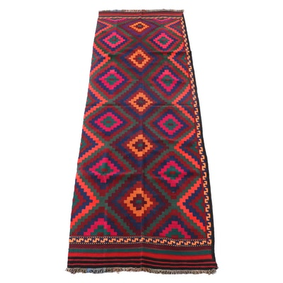 4'9 x 14'5 Handwoven Afghan Wool Kilim Long Rug
