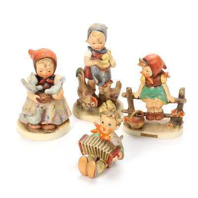"Goebel ""Just Resting"" and Other Porcelain Hummel Figurines, Mid-20th Century"