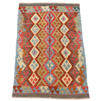 3'2 x 4'9 Handwoven Afghan Wool Kilim Area Rug
