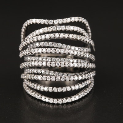 Sterling Cubic Zirconia Tapered Band