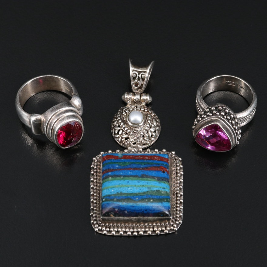 Sterling Jewelry Featuring Sarda Ring