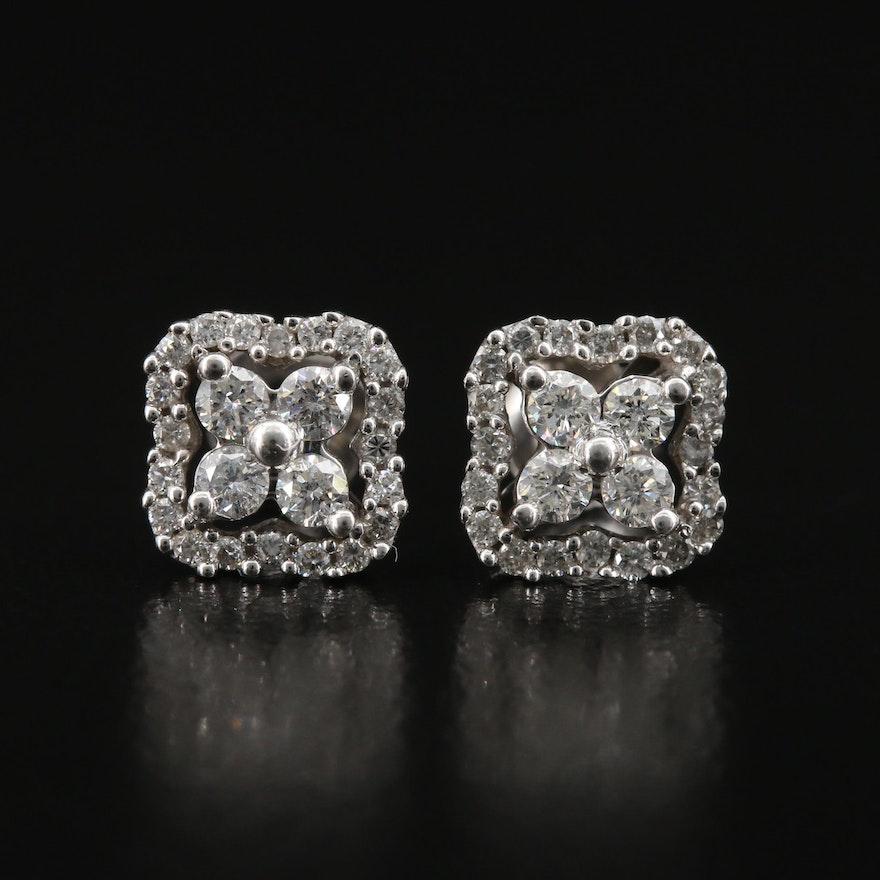 14K 0.70 CTW Diamond Stud Earrings