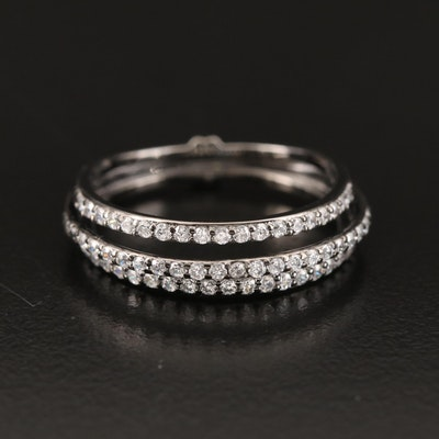 Sterling Cubic Zirconia Triple Row Band