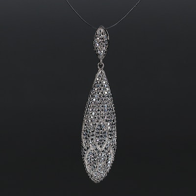 Sterling Silver Spinel Drop Pendant