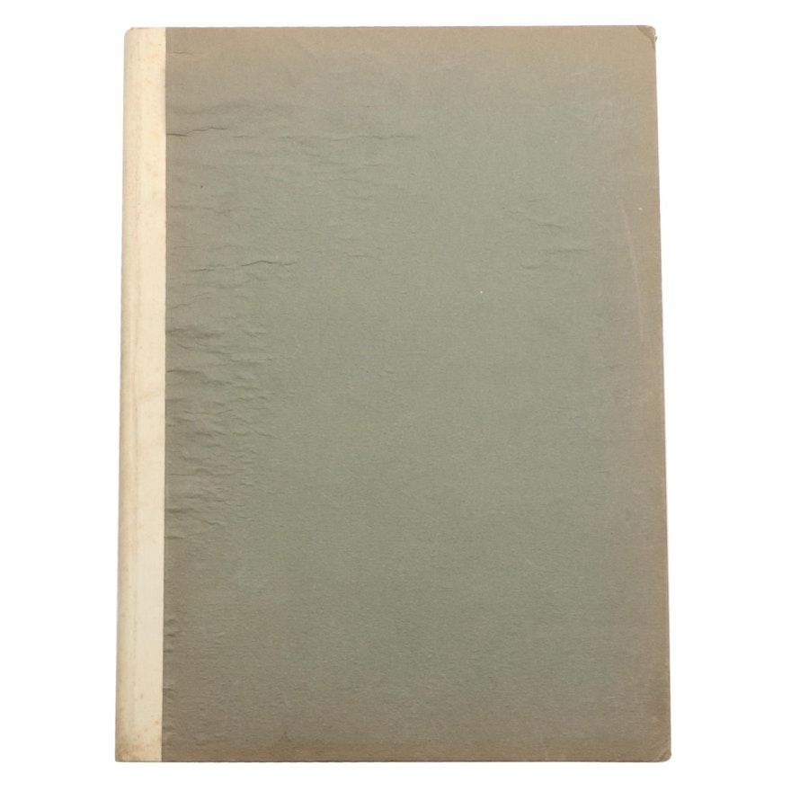 """Signed Limited Edition """"Der Krämerspiegel"""" by Richard Strauss, 1921"""