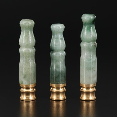 Carved Jadeite Cigarette Holders