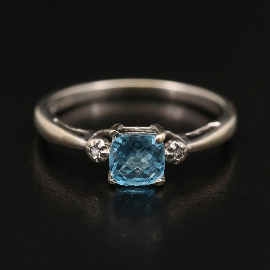 10K Topaz and Diamond Ring