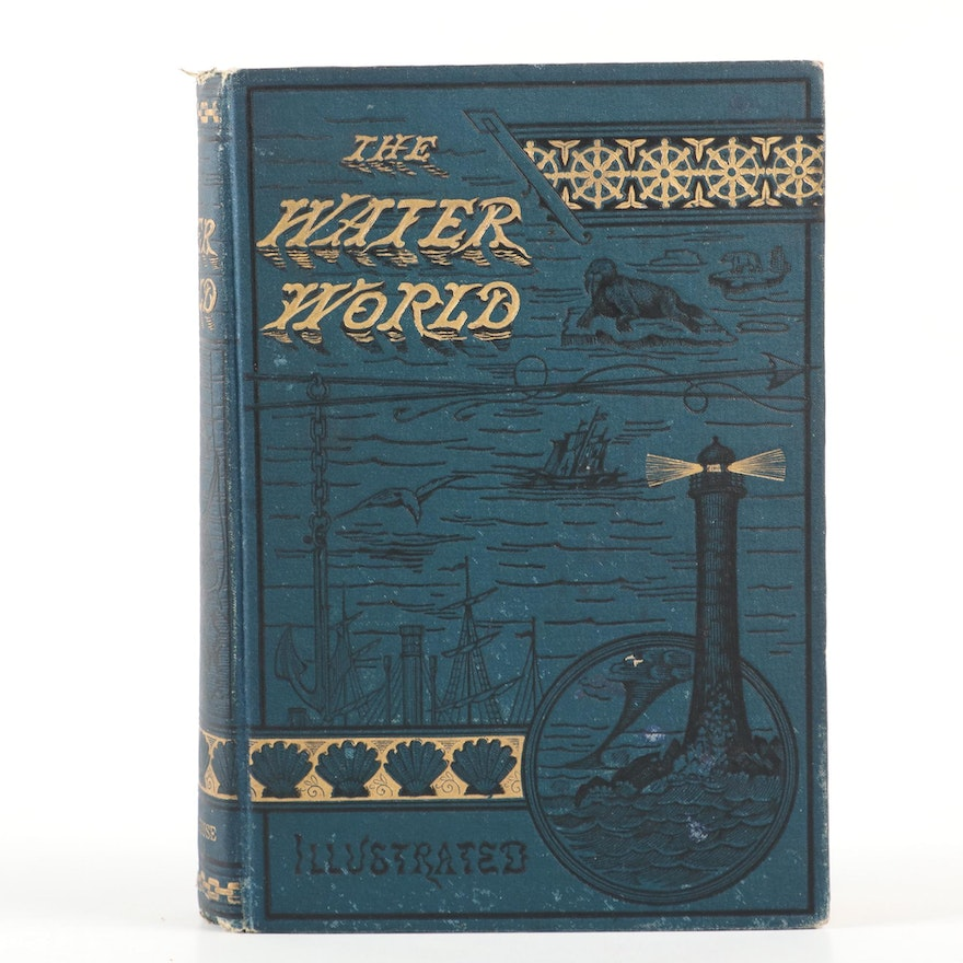 """First Edition """"The Water World"""" by J. W. van Dervoort, 1883"""