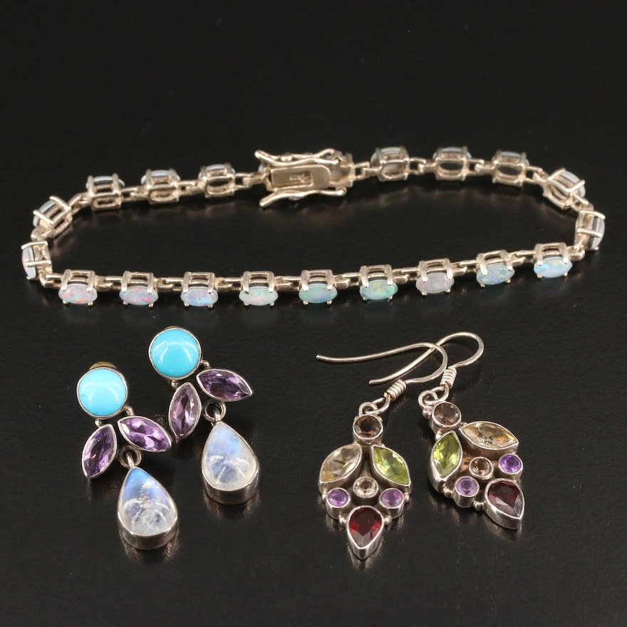 Nicky Butler Gemstone Drop Earrings and Other Jewelry Including Sterling