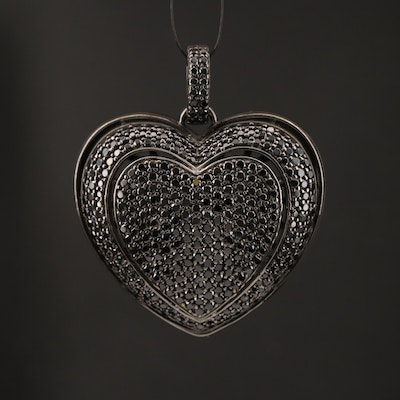 Sterling Spinel Heart Pendant