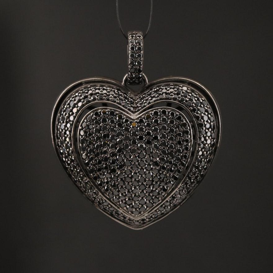 Sterling Spinel Heart Pendant