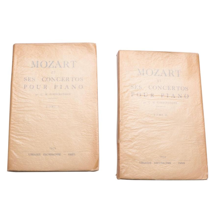 """""""Mozart et Ses Concertos pour Piano"""" Two-Volume Set, 1939"""